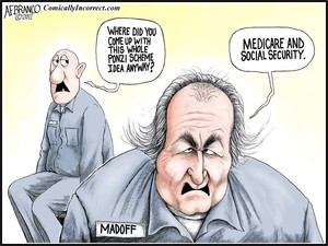 Madoff Ponzi Scheme  (Cartoon)