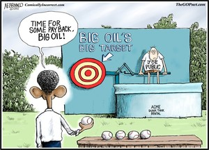 Big Oil, Big Target (Cartoon)