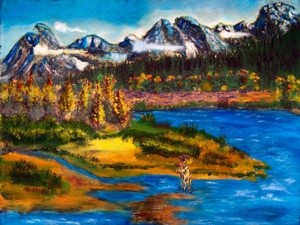 Aw120803 Moose in Mountains
