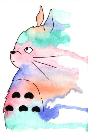 Totoro Watercolour Splash