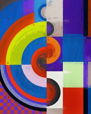 Abstract composition 458