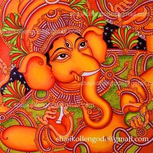 ganapathi -kerala mural painting