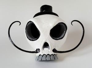 Sugar Skull Dapper Chap Gourd Art