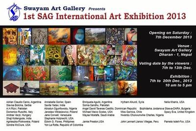 SAG 1st International ART Exhibition in Nepal