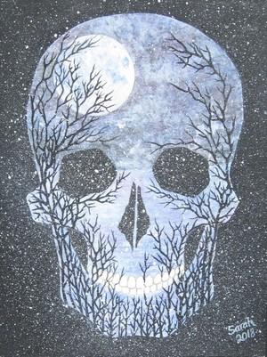 Winter Moon Skull
