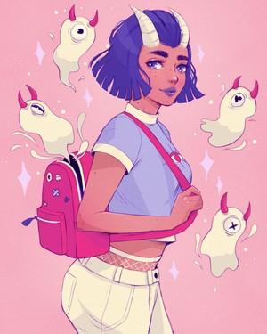 Backpack Demon Girl