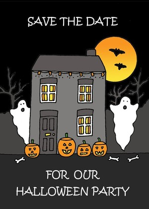 Halloween Party, Save the Date.