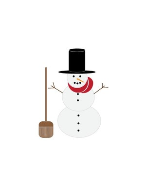 Snowman-with-scarf