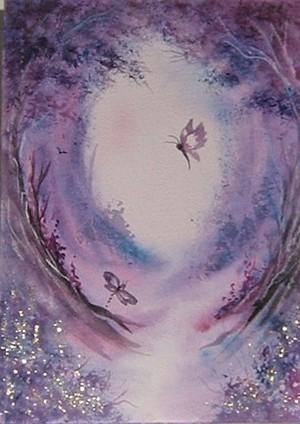 Purple glitter fantasy