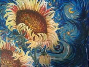 Sunflowers Delight painting