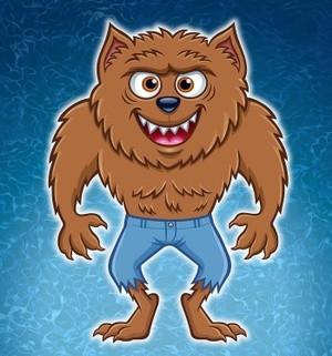Wild Werewolf Cartoon