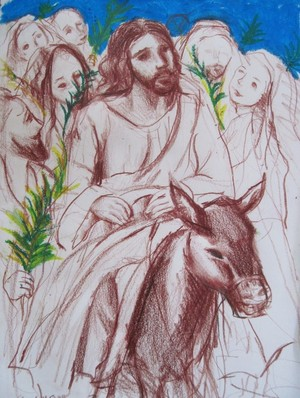Jesus entry into Jerusalem-Happy Palm Sunday