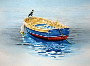 boat and crow