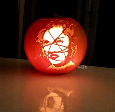 Madonna Rebel Heart Pumpkin Carving