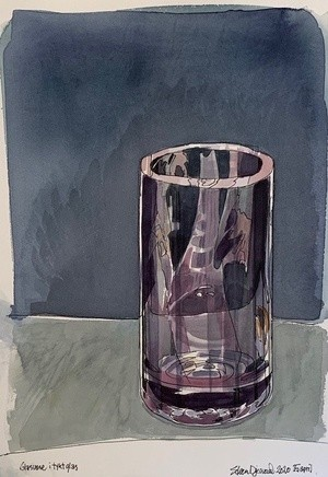 Vase of thick glass