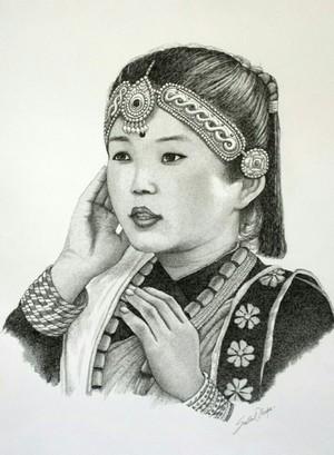 A little Gurung girl