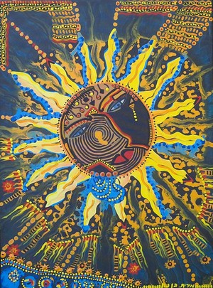sun shine art painting modern visual paintings mirit ben nun israel
