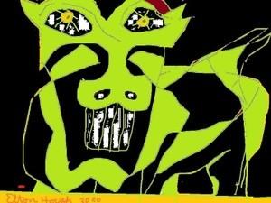 release the HELL BEAST,,(c) 2020..elton houck...digital..END TIME WARNING..art