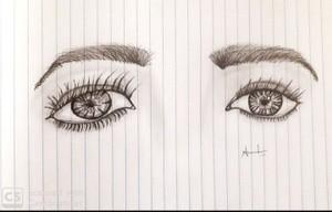 Pen art.. Eyes.. Ammulu..