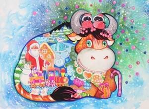 Christmas bull
