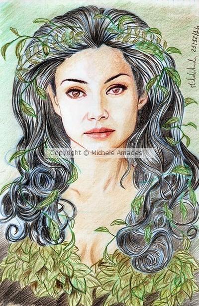 elena goddess green