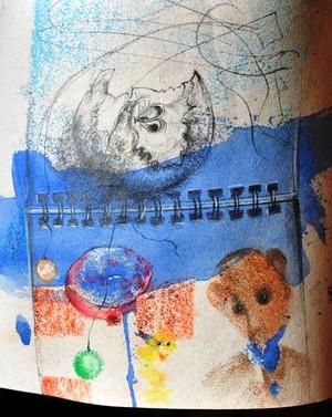 apple-moon in  the kindergarten 21x22cm