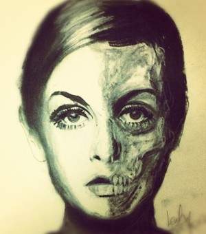 Day of the dead Twiggy Portrait