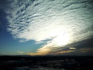 Cloud-filled sky