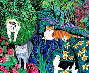 Paintings - Cats
