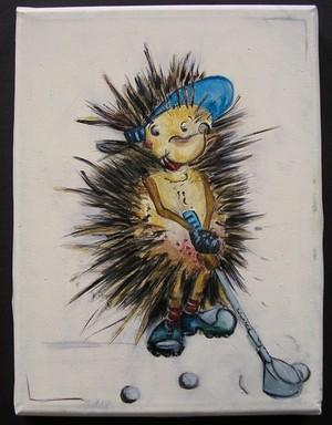 Golfing Hedgehog