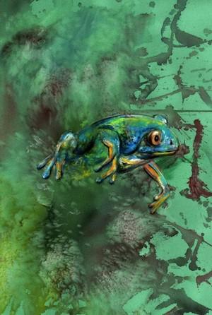 Frog emerge.
