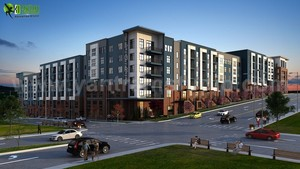 The Perfect Apartment Building ideas by 3d exterior design companies Florida, USA.
