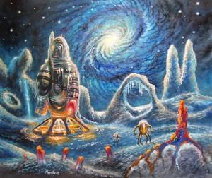 Intergalactic landscape.
