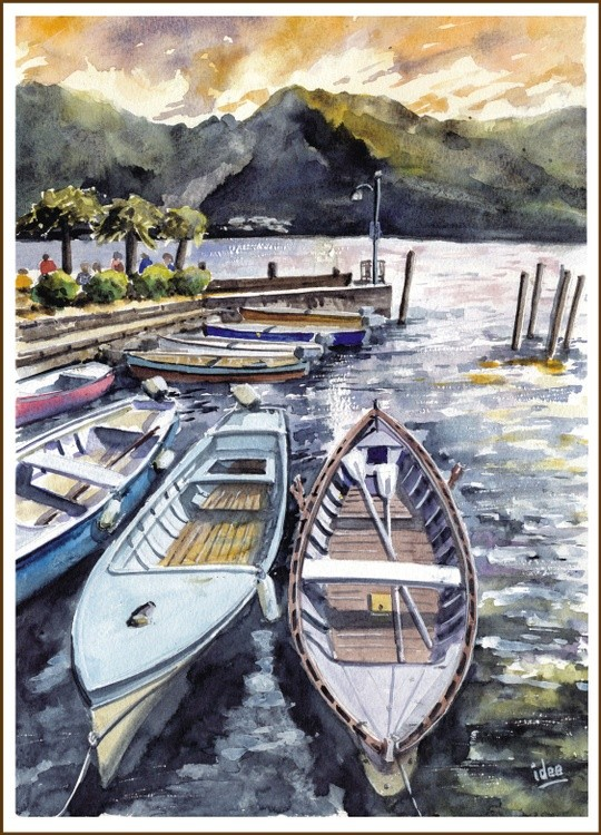 Fishing boats on the Italian lakes