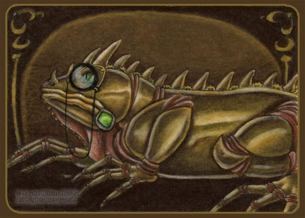 Steampunk Iguana with Monocle