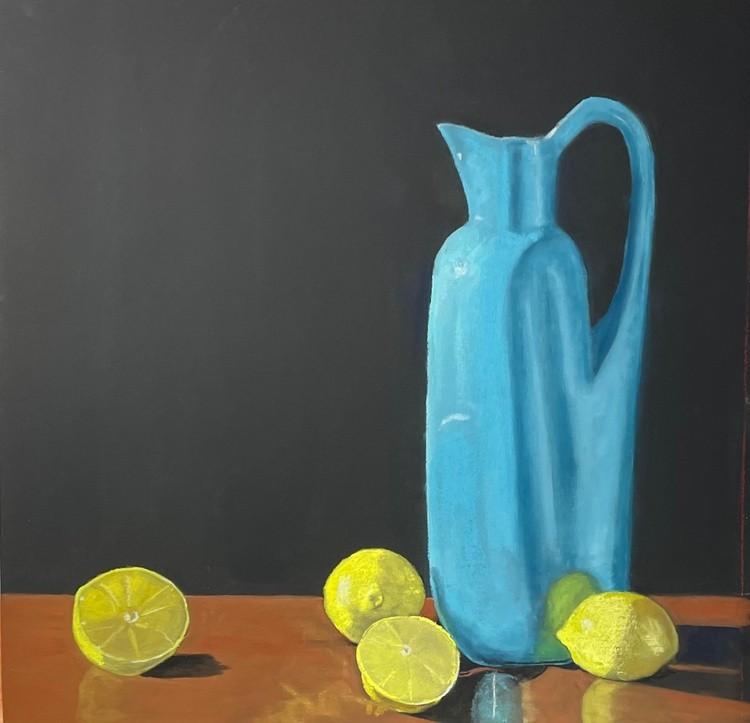 Pitcher and lemons