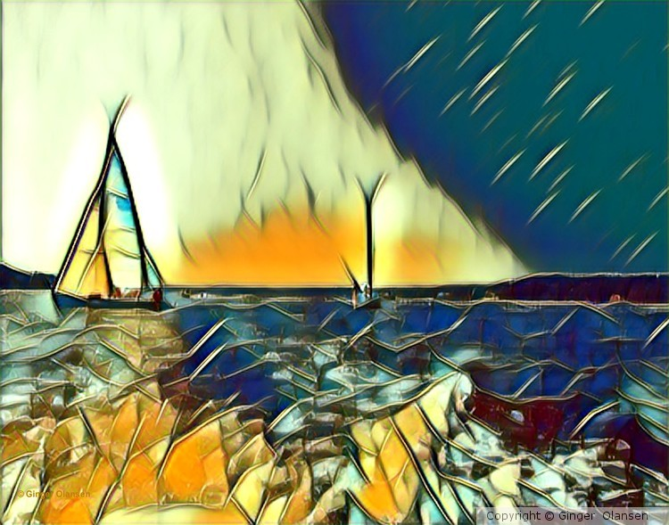 Sailing in digital form. Stained Glass?????