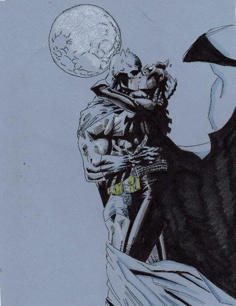 Batman Kissing Catwoman 2 By Tony Allen Artwantedcom