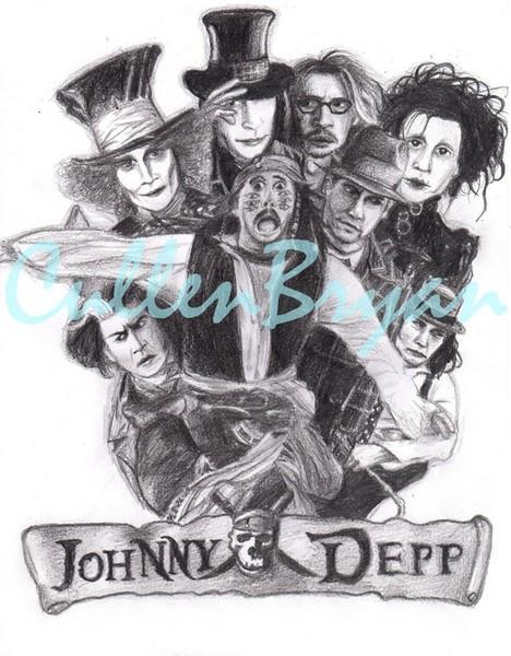Johnny Depp Collage By Cullen Bryan Artwantedcom