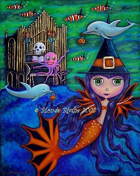 Halloween Bat Mermaid Witch
