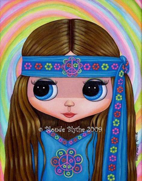 Flower Power Hippie Blythe Doll
