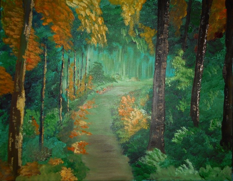 In To The Woods Painting # 365