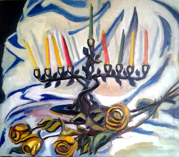 Still Life of a Menorah