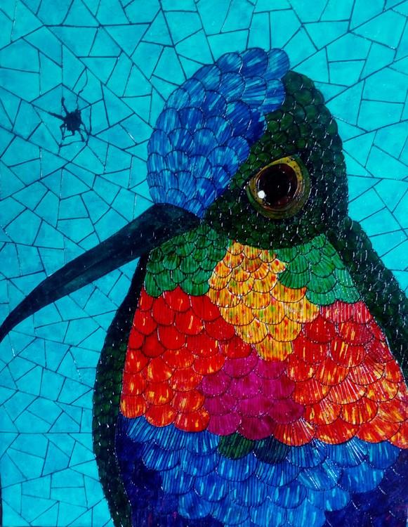 Humming-bird-Colibri #5 -Serie Colibris
