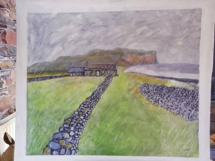 Racwick bay bothy Orkney