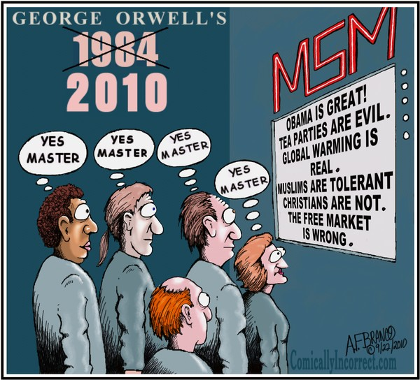 George Orwell's 1984/2010 (Cartoon) by A.F Branco | ArtWanted.com