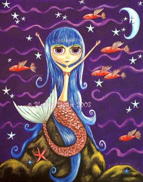 Blythe Mermaid & Flying Fish