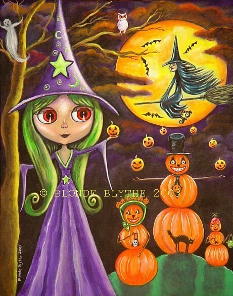 Halloween Blythe Witch and the Pumpkin Family