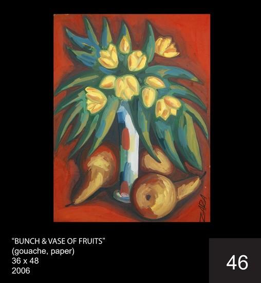 BUNCH & VASE OF FRUITS