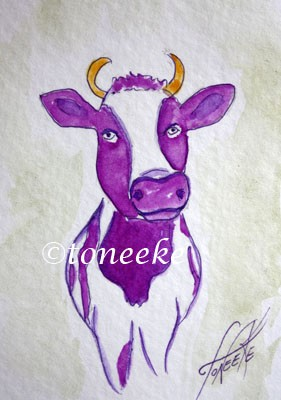 My Purple Cow ACEO